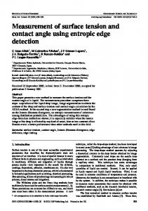Measurement of surface tension and contact angle using entropic ...