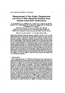 Measurement of the Angle, Temperature and Flux of Fast Electrons ...