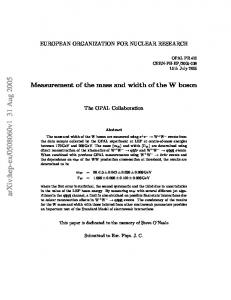 Measurement of the mass and width of the W boson