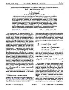 Measurement of the Polarization of W Bosons with Large ... - fulir