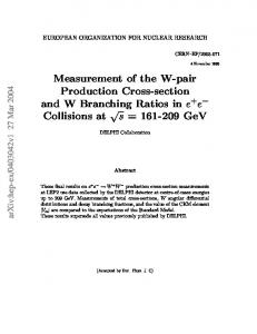 Measurement of the W-pair Production Cross-section and W ...