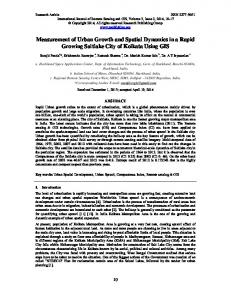 Measurement of Urban Growth and Spatial Dynamics ...
