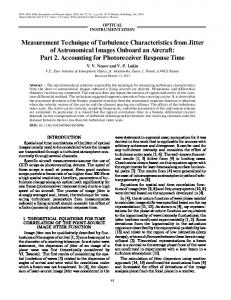 Measurement technique of turbulence characteristics from jitter of ...