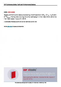 Measurements and data processing of atmospheric