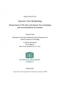 Measurements of 3D static and dynamic foot