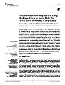 Measurements of Deposition, Lung Surface Area