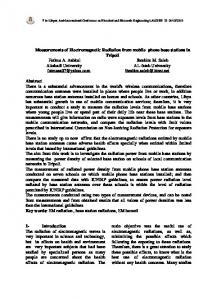 Measurements of Electromagnetic Radiation from ...