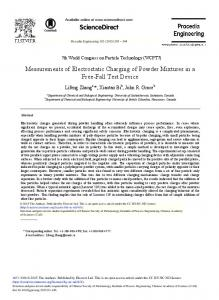 Measurements of Electrostatic Charging of Powder Mixtures in a Free ...