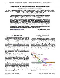 Measurements of the linac coherent light source ... - APS Link Manager