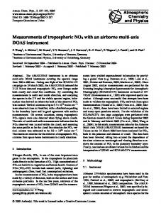 Measurements of tropospheric NO2 with an ... - Atmos. Chem. Phys