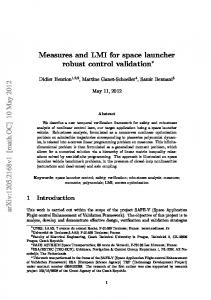 Measures and LMI for space launcher robust control validation