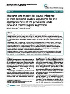 Measures and models for causal inference in cross