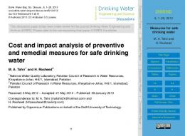 Measures for safe drinking water - Drinking Water Engineering and ...