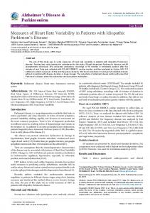 Measures of Heart Rate Variability in Patients with