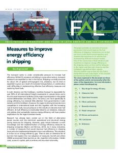 Measures to improve energy efficiency in shipping