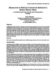 Measures to Reduce Concerns Related to Smart Meter Data_x000D_ ...