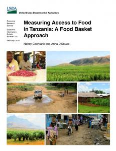 Measuring Access to Food in Tanzania: A Food ... - AgEcon Search