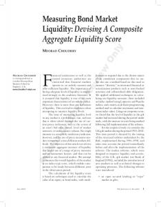 Measuring Bond Market Liquidity