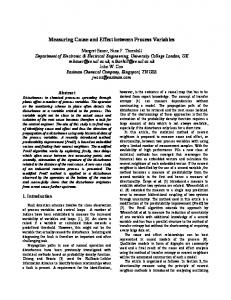 Measuring Cause and Effect between Process ... - Semantic Scholar