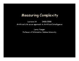 Measuring Complexity - Semantic Scholar