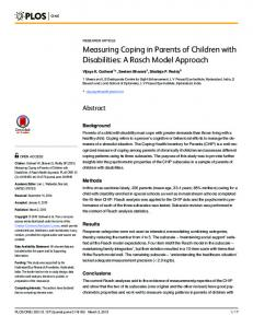 Measuring Coping in Parents of Children with