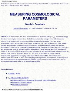 Measuring Cosmological Parameters - NED