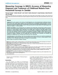 Measuring Coverage in MNCH: Accuracy of Measuring ... - CiteSeerX