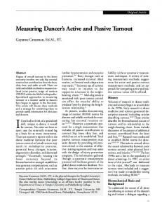 Measuring Dancer's Active and Passive Turnout - Ingenta Connect