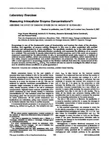 Measuring intracellular enzyme concentrations ... - Wiley Online Library