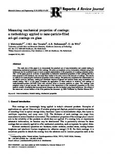 Measuring mechanical properties of coatings - Materials Technology