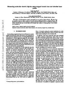Measuring molecular electric dipoles using trapped atomic ions and ...