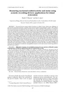 Measuring nocturnal seabird activity and status ... - Wiley Online Library