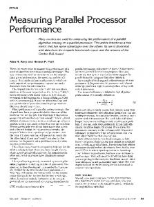 Measuring Parallel Processor Performance - Parallel Computing