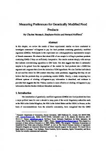 Measuring Preferences for Genetically Modified Food ... - CiteSeerX
