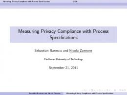 Measuring Privacy Compliance with Process ... - MetriSec 2011
