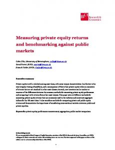 Measuring private equity returns and benchmarking against public ...