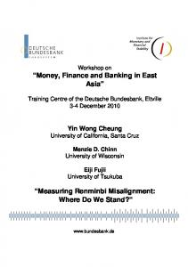 Measuring Renminbi Misalignment: Where Do We Stand?