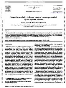 Measuring similarity in feature space of knowledge entailed by two ...