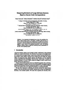 Measuring Similarity of Large Software Systems Based on ... - CiteSeerX