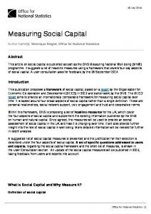 Measuring Social Capital - Office for National Statistics