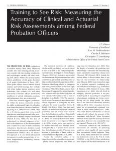 Measuring the Accuracy of Clinical and Actuarial Risk ...