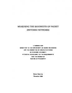 measuring the bandwidth of packet switched ... - Semantic Scholar