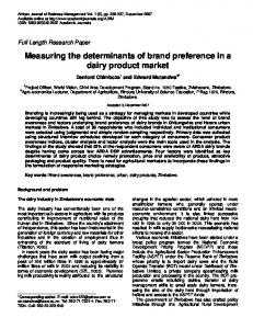 Measuring the determinants of brand preference ... - Academic Journals
