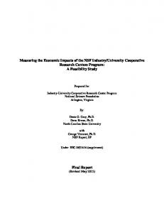 Measuring the Economic Impacts of the NSF ... - NC State University