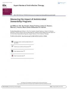 Measuring the impact of Antimicrobial Stewardship Programs