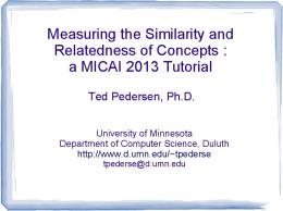 Measuring the Similarity and Relatedness of