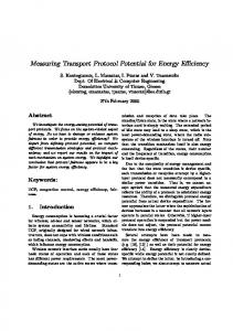Measuring Transport Protocol Potential for Energy ...