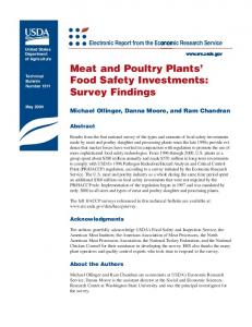 Meat and Poultry Plants' Food Safety Investments - USDA ERS