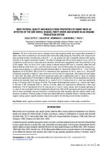 meat physical quality and muscle fibre properties of rabbit meat ... - Arpi