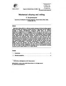 Mechanical alloying and milling - GRACO